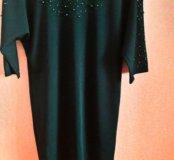 Шикарное платье изумруд! Размеры 56 размер