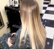 Окрашивание волос .