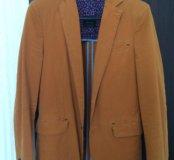 Горчичный пиджак ZARA 48 размера