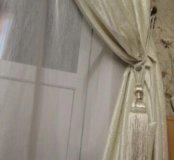 Новые шторы бархат молочный (экрю) 2шт, Турция