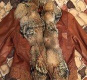 Куртка из меха волка( натуральный)