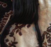 Челка темно коричневая