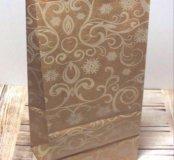 Крафт-пакеты с рисунком 10 х 19 х 7 см.