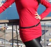 Кофта Туника красная женская