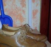Ботинки весенние, нат кожа