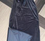 Продам новое вечернее платье бархат S-M