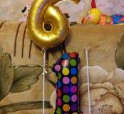 Два шарика цифры 6 и 1 с держателем