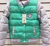 Куртка новая зелёная