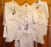 Рубашки белые р. 42-44