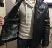 Совершенно новая кожзам куртка