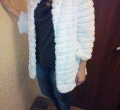 Тонкое пальто( искусственный мех)