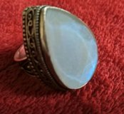 Кулон и кольцо с лунным камнем