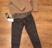 Брюки,топ и свитер