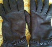 Перчатки темно-сиреневого цвета