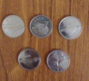 Латышские монеты. 1 Лат.