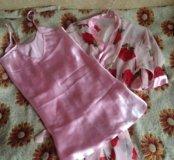 Сорочка и халатик новый комплект
