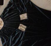 Платье-туника бархатная