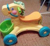 Детская каталка лошадка Fisher price