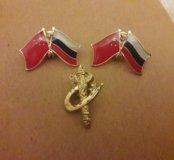 Значки Россия/Китай флаги
