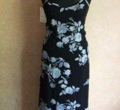 Новое платье с принтом цветами