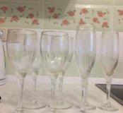Бокалы под вино и шампанское