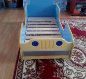 Кровать машинка детская б/у