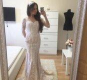 Платье белое новое с рукавами Jovani
