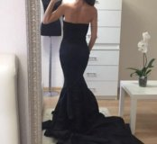 Платье чёрное русалка elie Saab новое