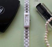 Часы серебро-керамика Qwill, производитель Ника