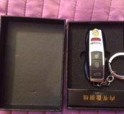 Зажигалка импульсная USB, брелок Porsche