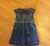 Джинсовое платье Next для девочки