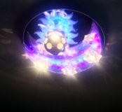 Люстра с пультом ДУ Полумесяц с крутящимся шаром