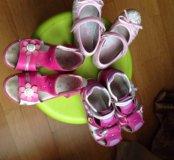 Летняя обувь для девочки 26-28