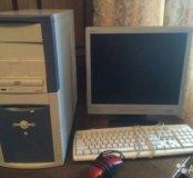 Для дома, учебы пк с монитором клавиатурой мышью