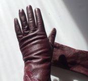 Перчатки нат кожа