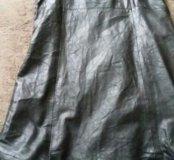 Платье кожаное
