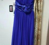 Синее платье 44-46