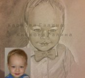 графика. портрет детский