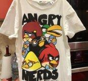 Футболка hm р 8-10 angry birds