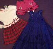 Пакет одежды на девочку 110-128 см