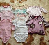 Одежда на девочку (пакетом) 62-74 рост
