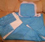 Одеяло с подушкой (новое) для новорожденного