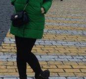 Пуховик зелёный