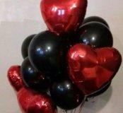Черные шары с сердцем