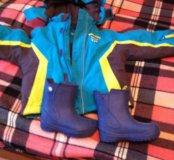Куртка активный отдых зима-осень р98+сапоги р26-27