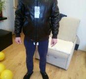 Новая кожаная куртка,50 размер