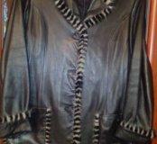 Куртка-пиджак кожанная