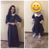 Одинаковые платья в пол для мамы и дочки .