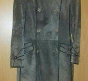 Пальто натуральная замша. 🌹🍀