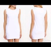 Платье Oodji 40 размер белое и красное